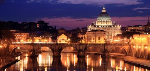 Roma al anochecer