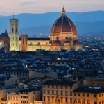 Florencia al anochecer