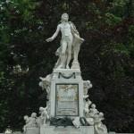 Viena. Estatua de Mozart