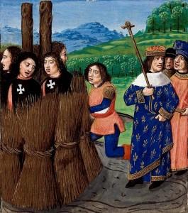 Los Caballeros templarios apresados por Felipe IV El Hermoso